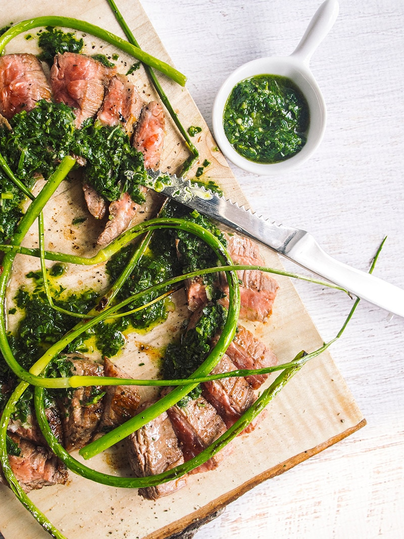 Salsa Verde Grilled Steak