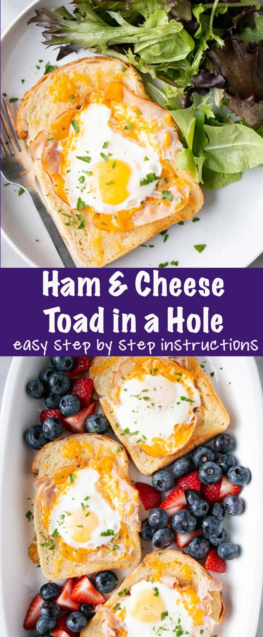 Ham and Cheese Toad in a Hole Long Pin