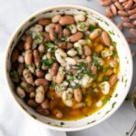 Mixed Pinto and Cannellini with herbs and spices for a marinade. i