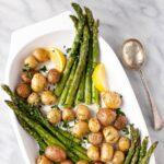 Lemon Herb Roasted Potatoes and Asparagus