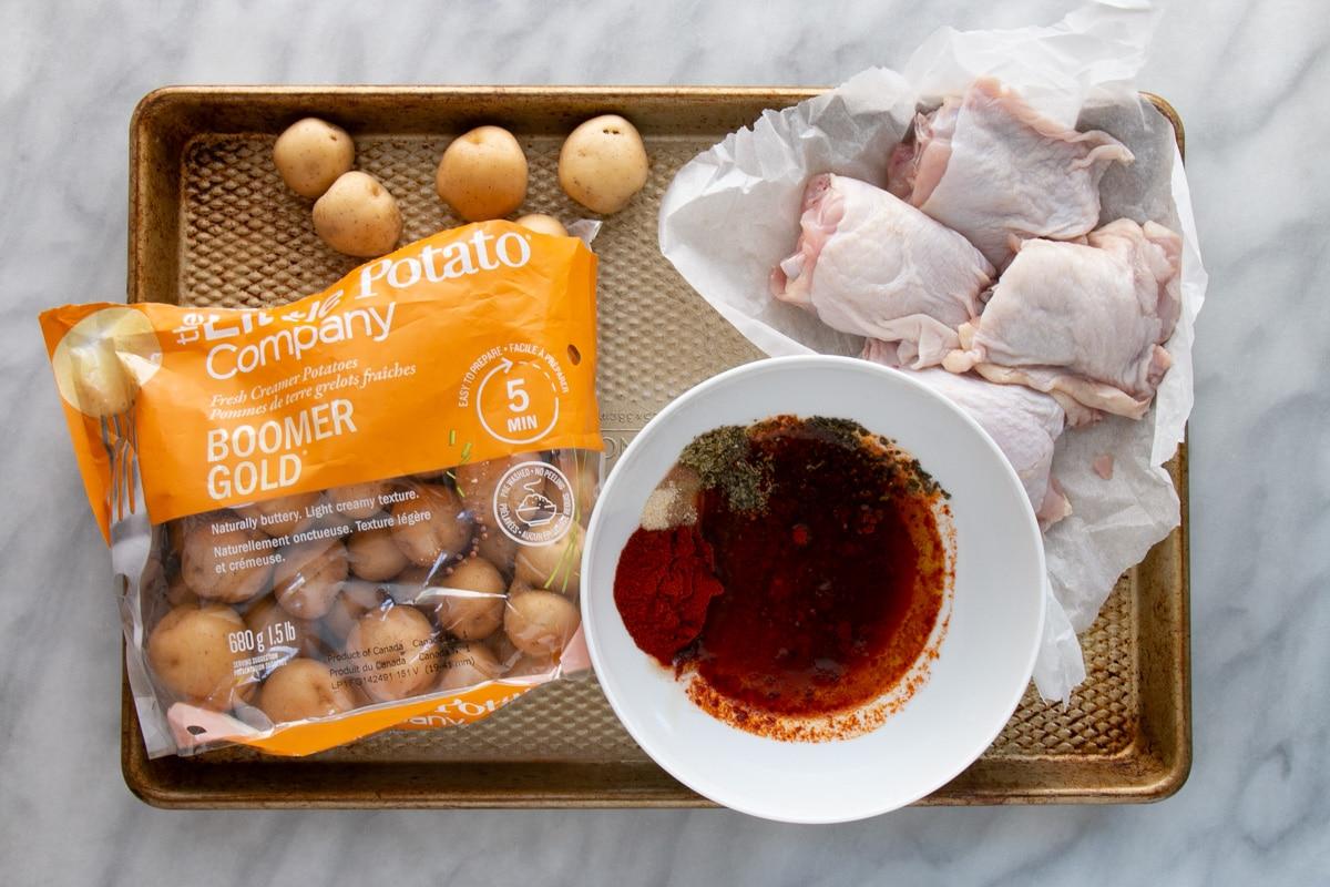 Prep for Peri Peri Chicken and Potatoes